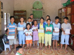 School book for all the kids in Bai Huong,cham island 2011