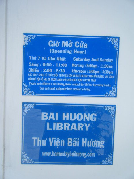 Openning hour for library