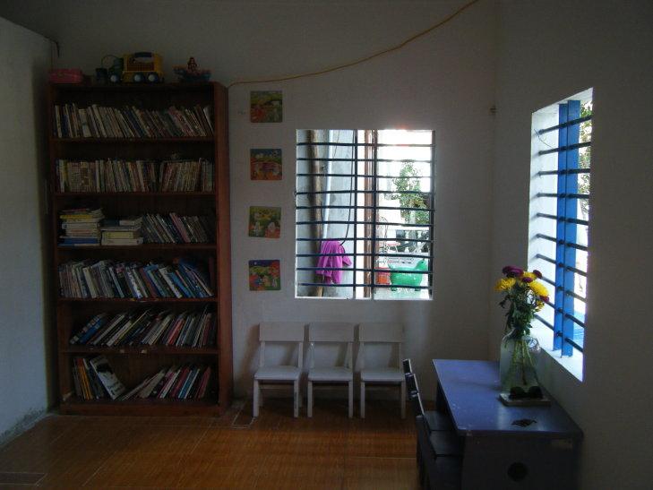 inside library cham island